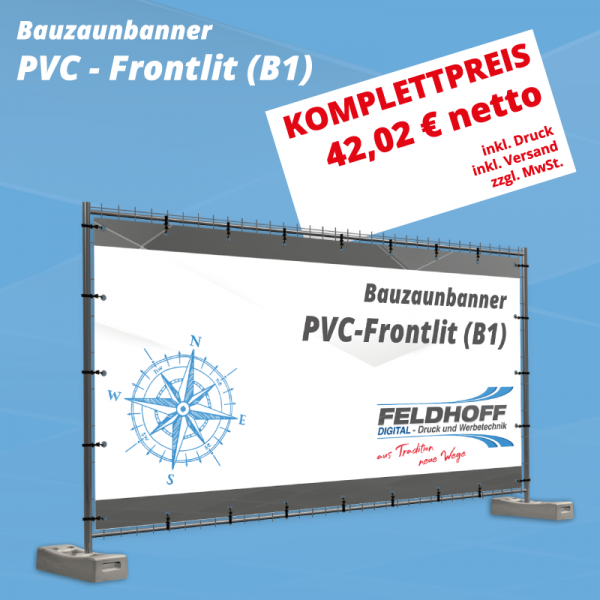 Bauzaunbanner PVC - Frontlit (B1)