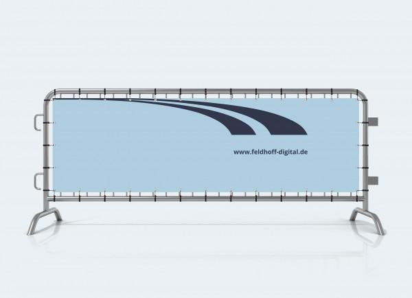 Absperrgitter Plane Banner bedruckt