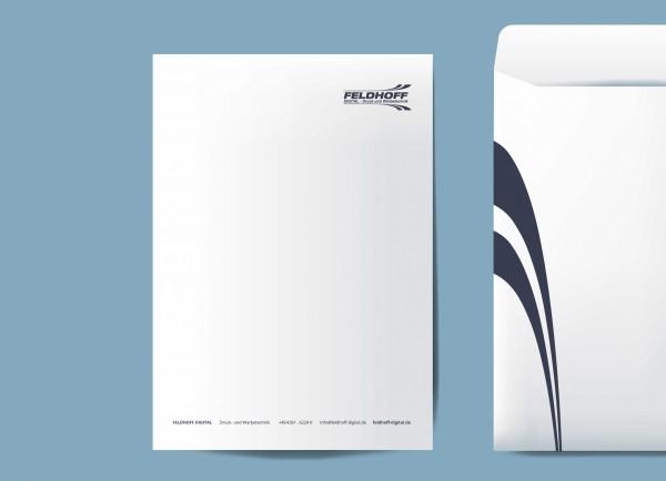 Briefpapier (Standard, 80g/m2, einseitig bedruckt)